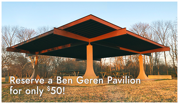 Reserve a Ben Geren Pavillion for only $30!