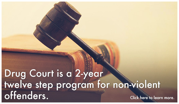 Drug Court is a 2-year, twelve step programfor non-violent offenders